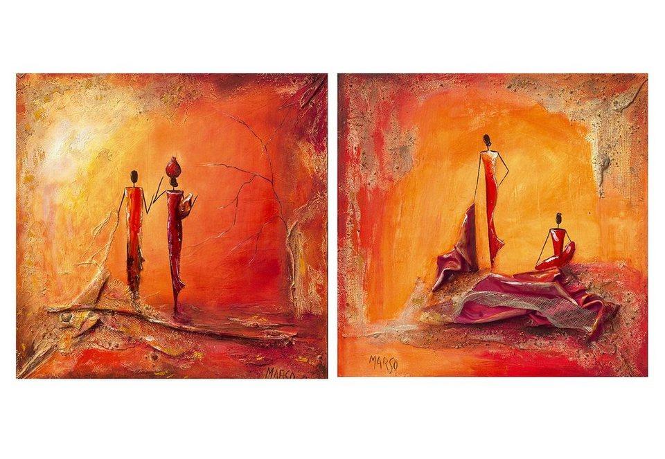 Wandbild-Set, »La couture und A l´aube«, Premium Picture (2tlg.) in rot