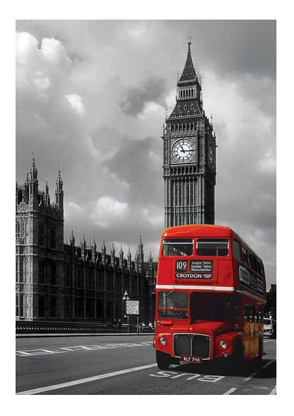 Wandbild, »London Red Bus«, Premium Picture in rot