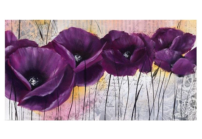 Wandbild, »Lila Mohn«, Premium Picture in lila