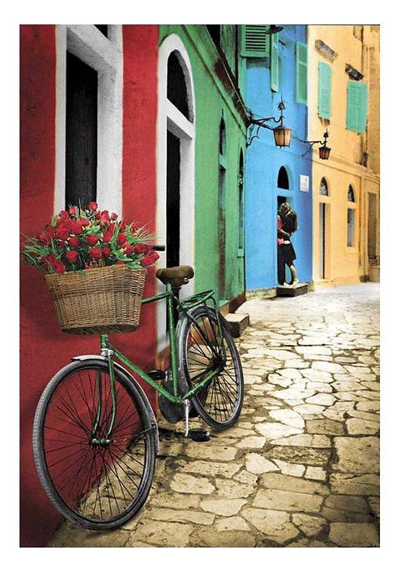 Wandbild, »Blumen-Fahrrad«, Premium Picture in bunt