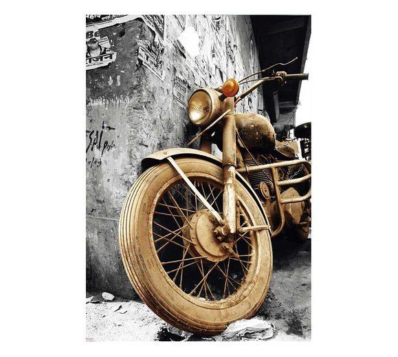 Wandbild, »Brown Motorcycles«, Premium Picture