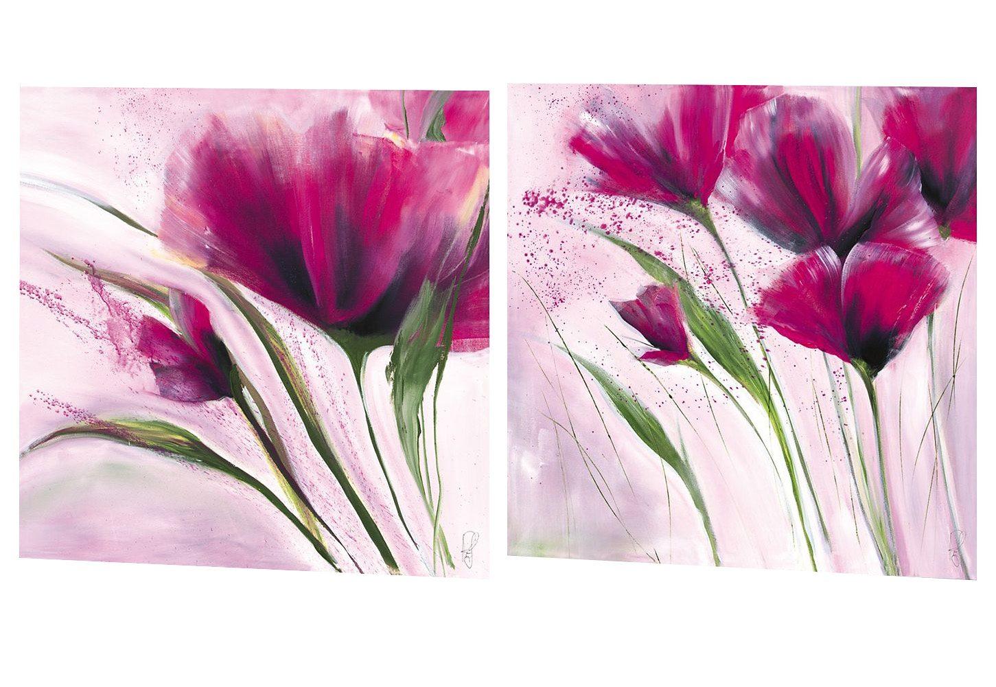 Premium Picture, Wandbilder, »Le jour en rose«, 2x 30/30 cm
