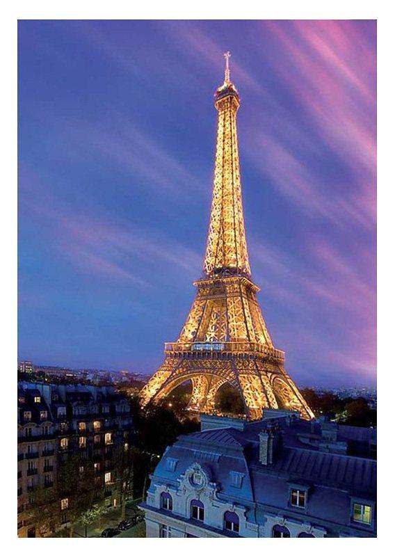 Wandbild, »Eiffelturm by Dawn«, Premium Picture in lila