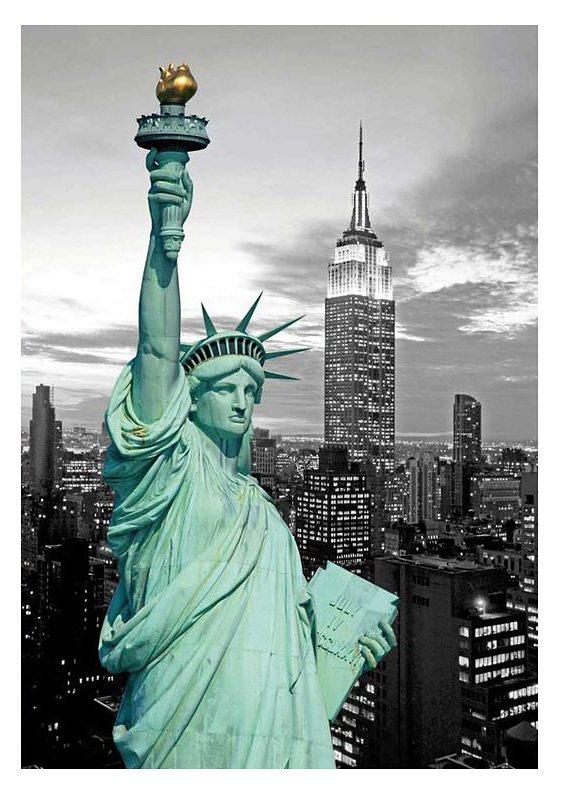 Wandbild, »Freiheitsstatue«, Premium Picture in grau