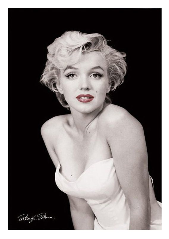 Wandbild, »Marylin Monroe Red Lips«, Premium Picture in schwarz
