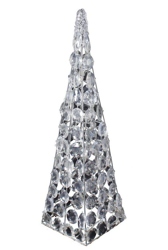 LED-Acryl-Pyramide, Näve in silberfarben