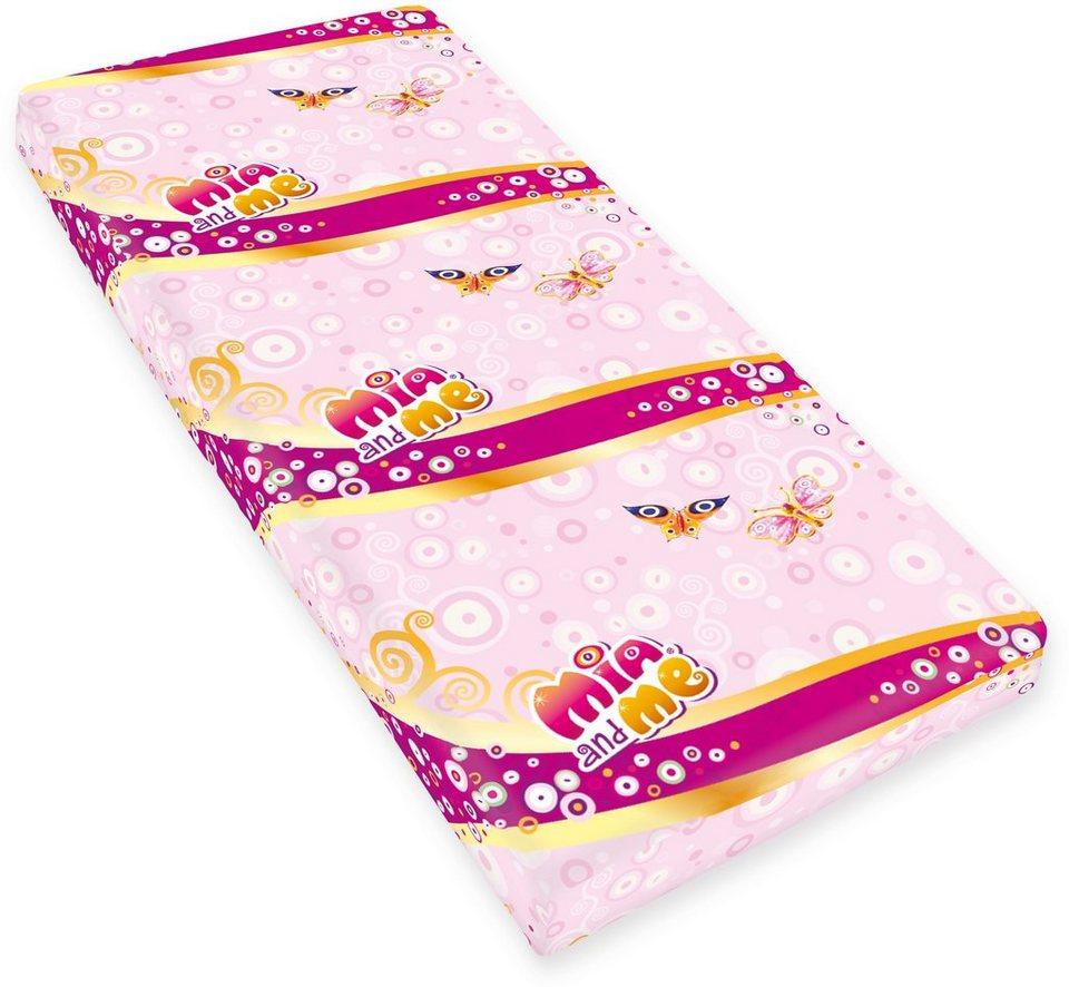 Spannbettlaken, Mia & Me, »Renforcé«, mit Schmetterlingen in rosa