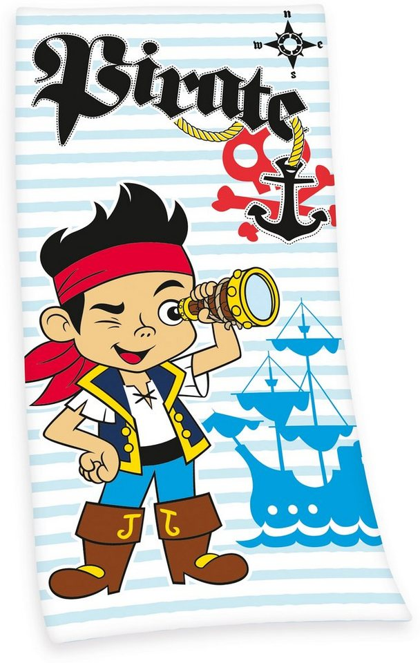 Strandtuch, Disney, »Pirate Jake«, mit Priaten-Motiv in blau