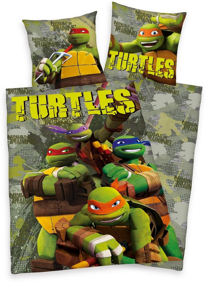 Kinderbettwäsche »Teenage Mutant Ninja Turtles«, in khaki