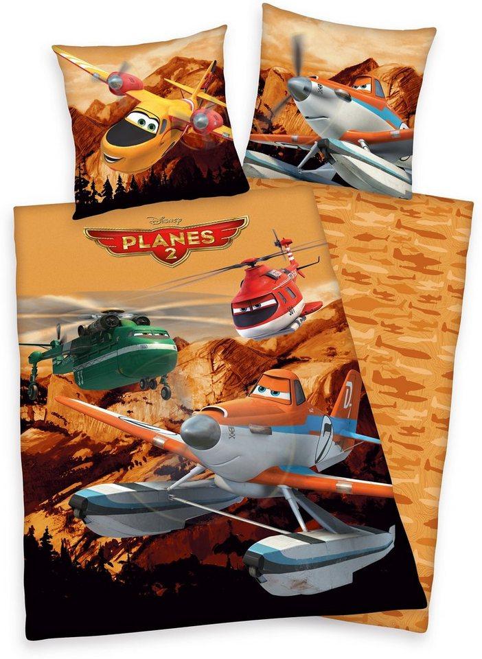 Kinderbettwäsche, Disney, »Planes 2 - Fire & Rescue«, in braun