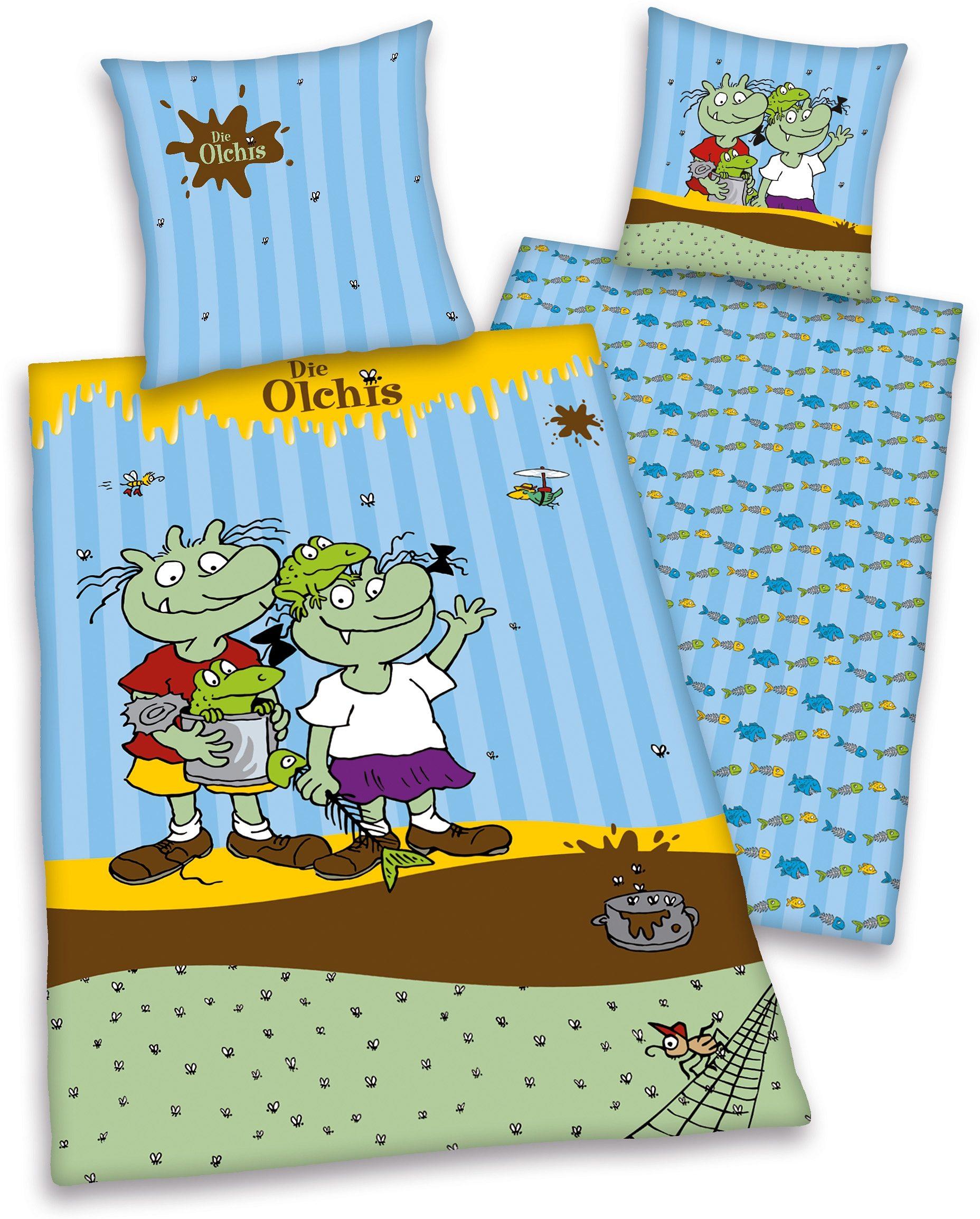 Kinderbettwäsche »Die Olchis«, mit Olchi-Familie