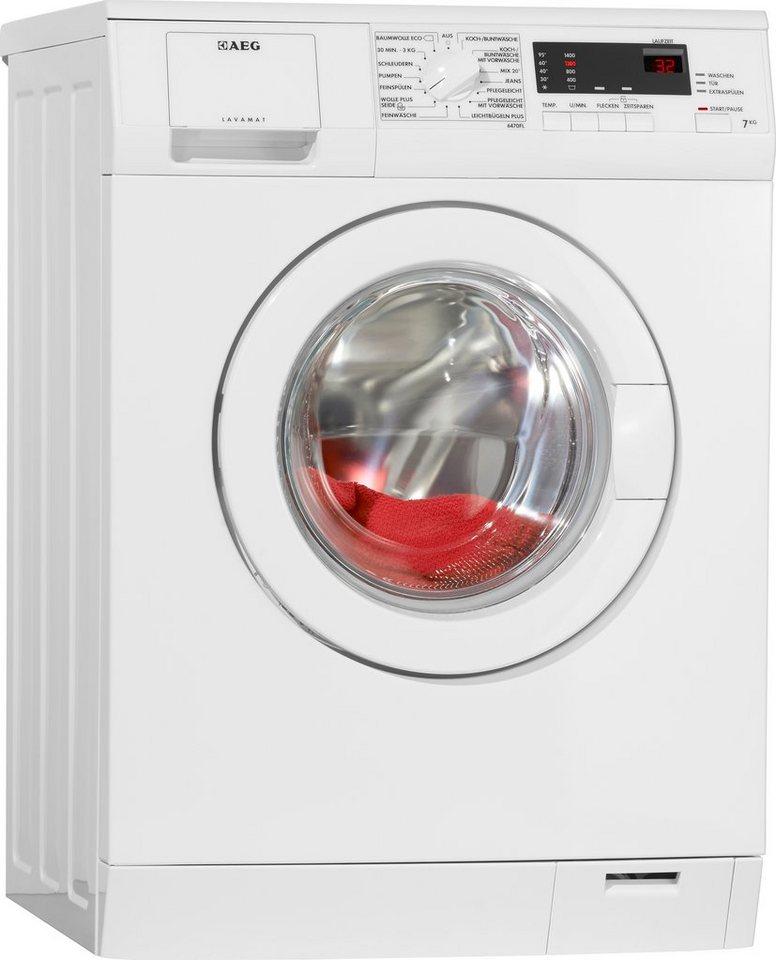AEG Waschmaschine L6470FL, A+++, 7 kg, 1400 UMin  OT ~ Waschmaschine Fassungsvermögen