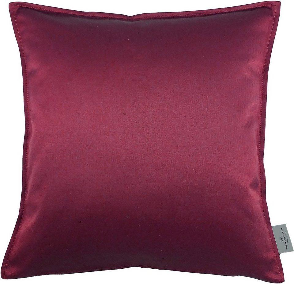 Kissenhüllen, Tom tailor, »T-Satin Piping« (1 Stück) in rot