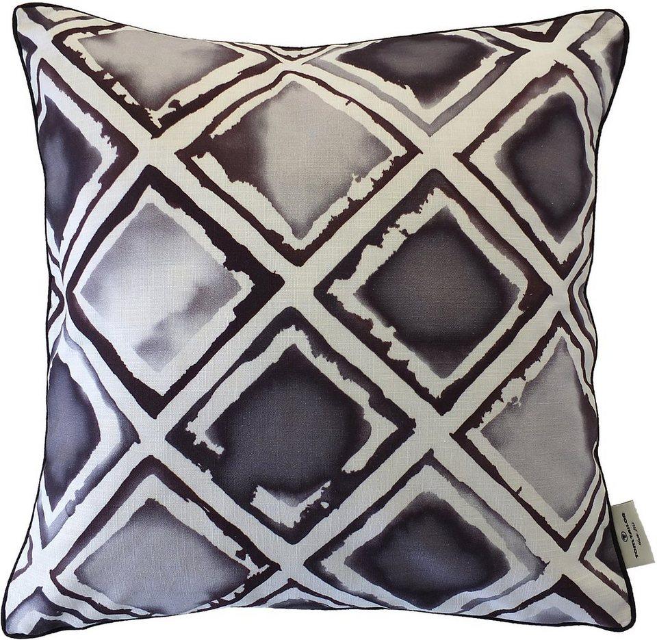 Kissenhüllen, Tom tailor, »Grey Cube« (1 Stück) in grau/weiß