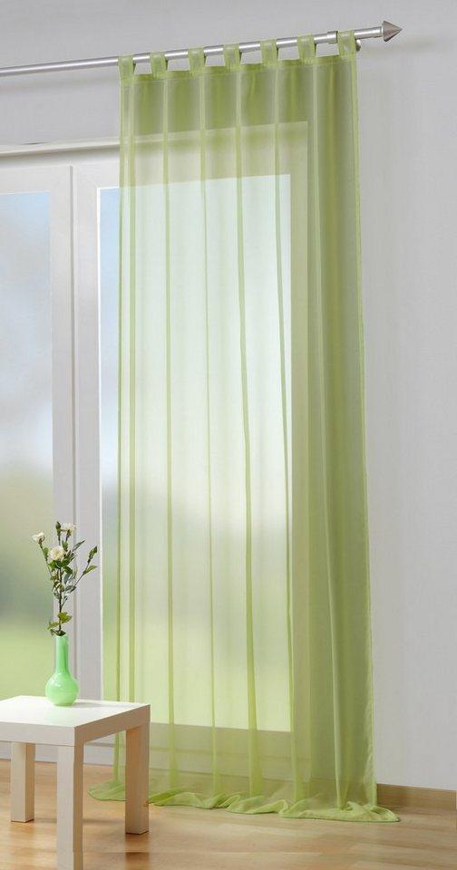 Gardine, Home Wohnideen, »Dahi«, mit Schlaufen (1 Stück) in lindgrün