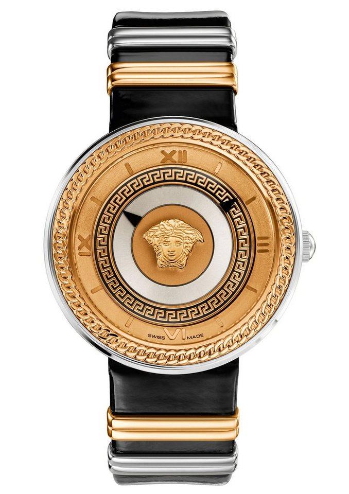Versace Schweizer Uhr »V-METAL ICON, VLC020014« in schwarz