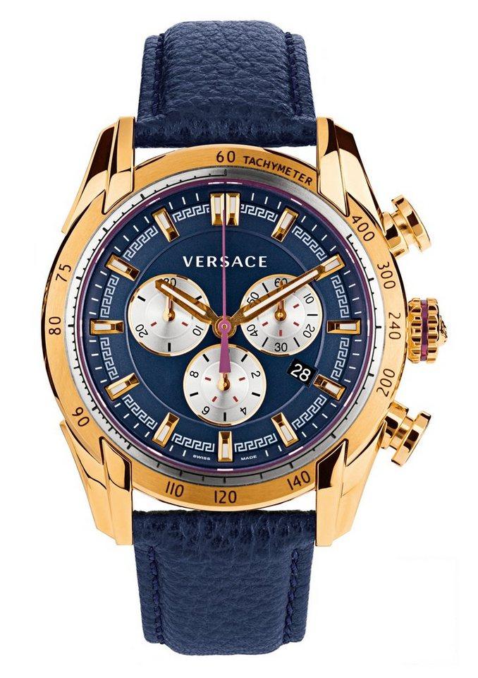 Versace Chronograph »V-RAY, VDB030014« in blau