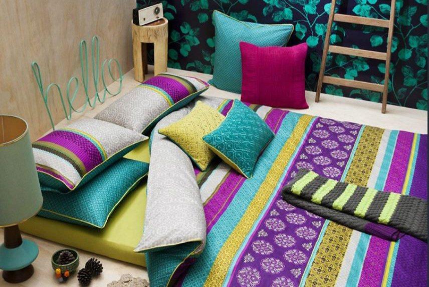 Wendebettwäsche, KAS, »Alessandra«, kräftige Farben in multi