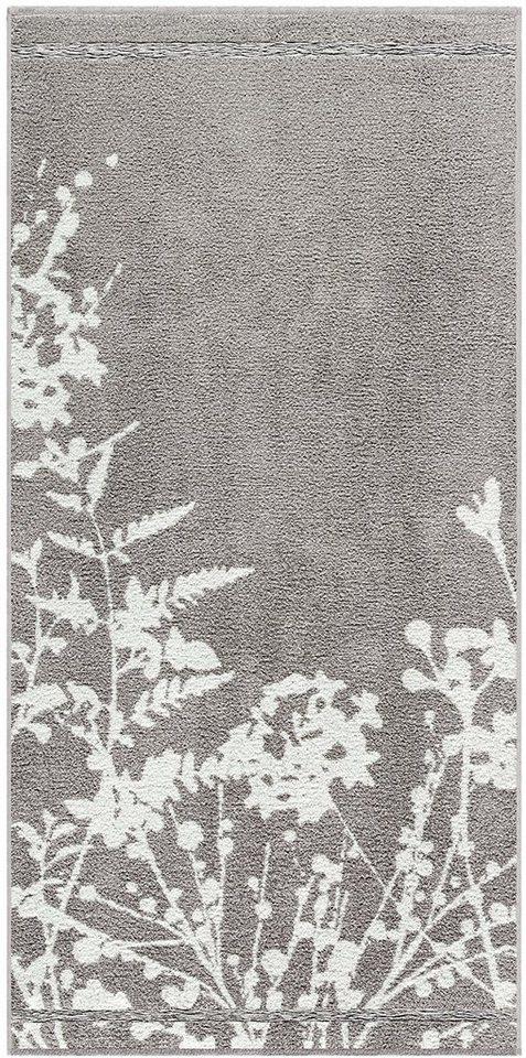 Handtücher, Egeria, »Tamara«, mit floralen Elementen in grau
