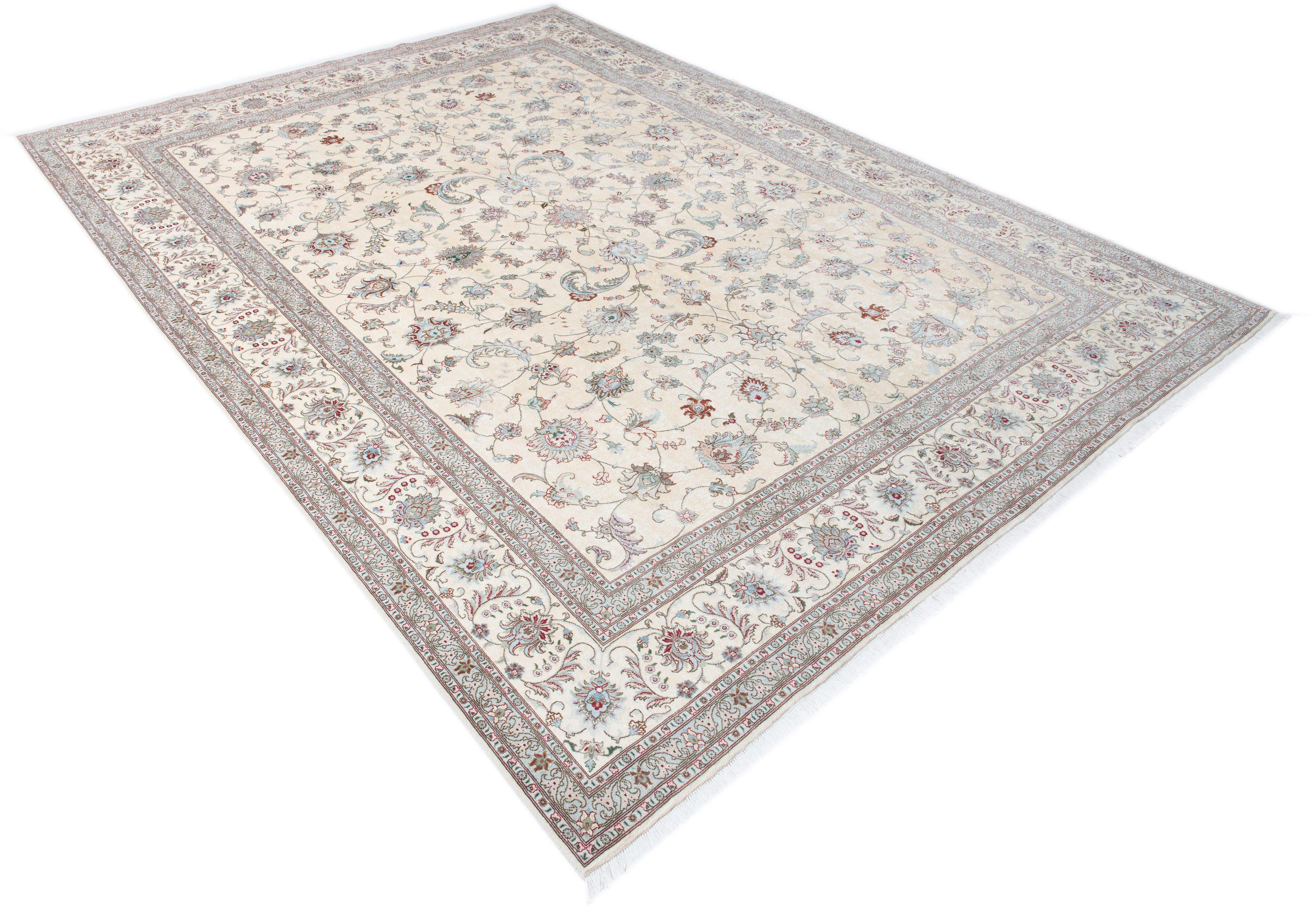 Orient-Teppich, Parwis, »Tabris Faraji«, handgeknüpft, Wolle, 700.000 Knoten/m², Unikat