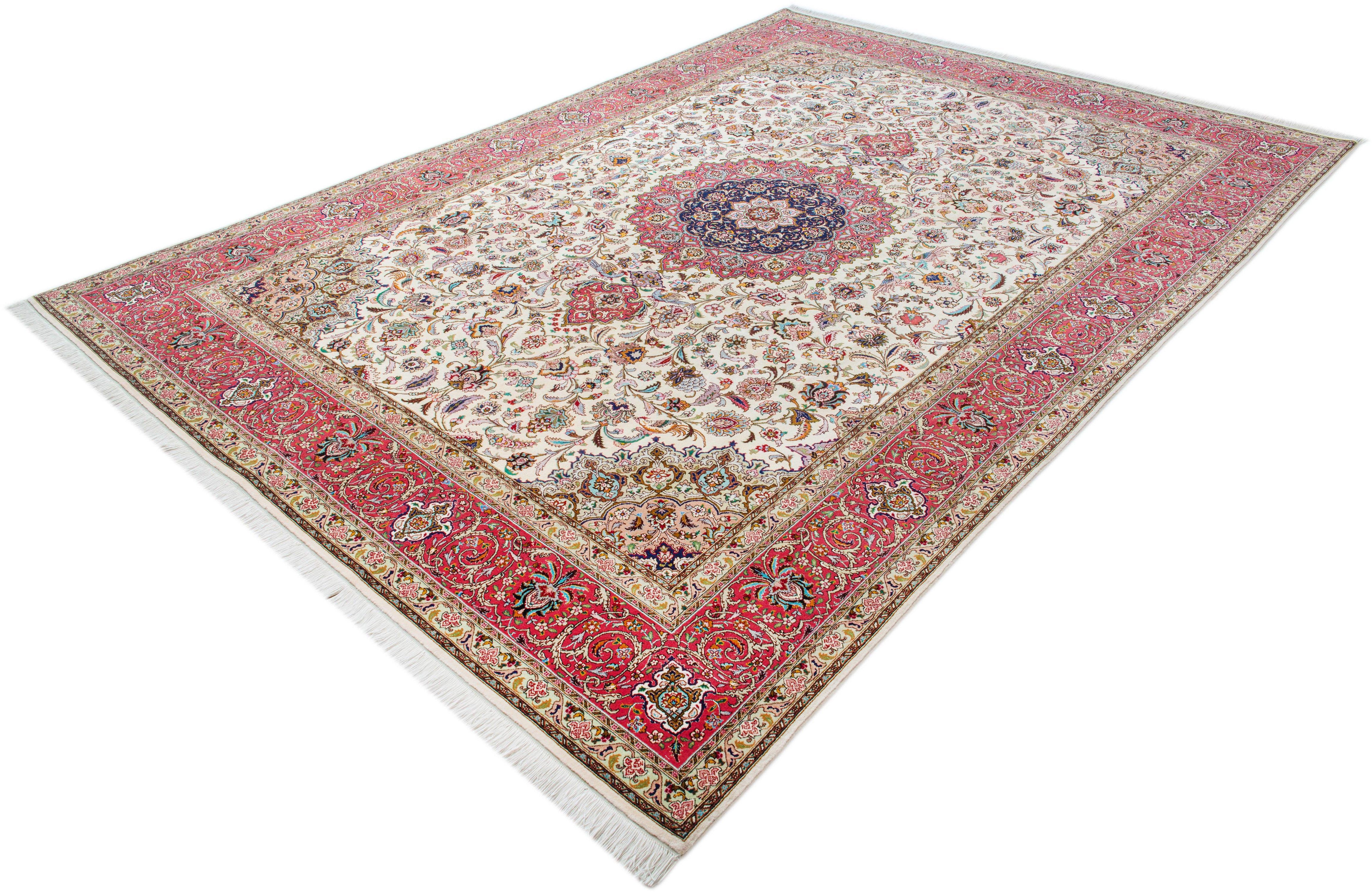 Orientteppich »Tabris«, Parwis, rechteckig, Höhe 15 mm, Wolle, 700.000 Knoten/m², Unikat