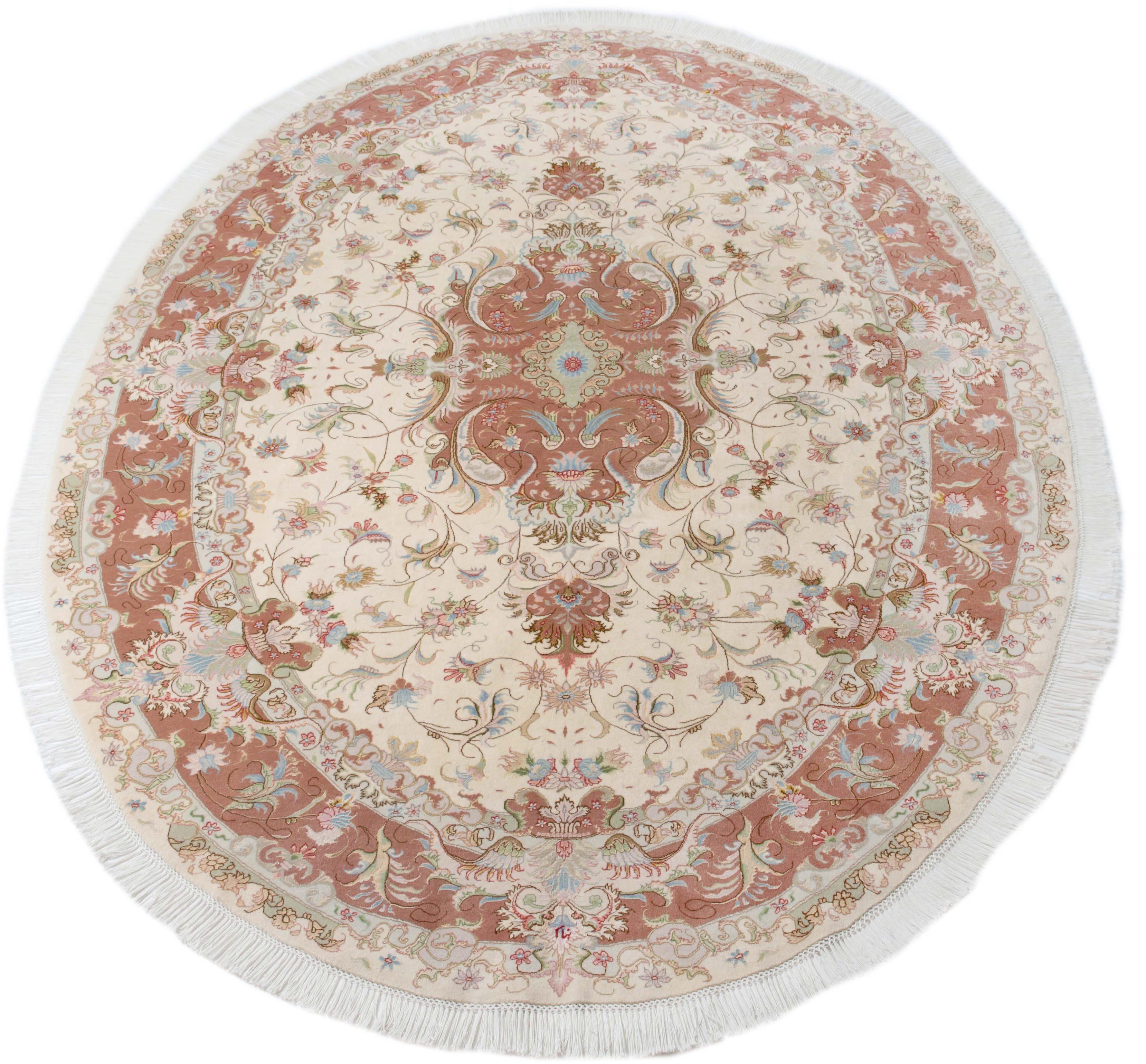 Orient-Teppich, Parwis, »Tabris Banam«, handgeknüpft, Seiden Anteil, 700 000 Knoten/m², Unikat