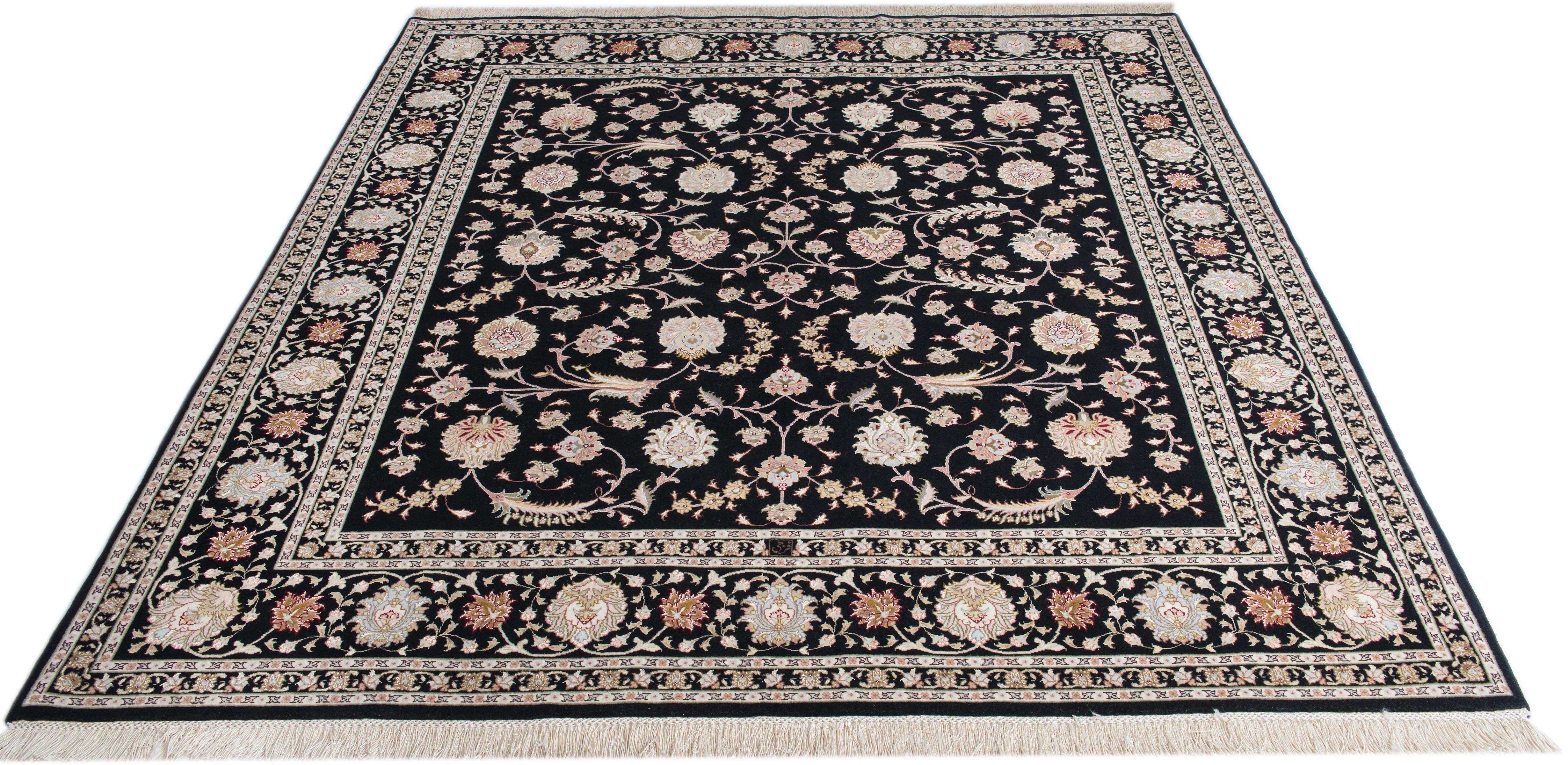 Orient-Teppich, Parwis, »Tabriz Faraji«, handgeknüpft, Wolle, 700.000 Knoten/m², Unikat