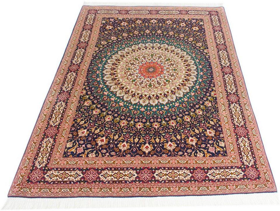 Orientteppich  Orient-Teppich, Parwis, »Tabris Gombad«, handgeknüpft, Wolle, mit ...