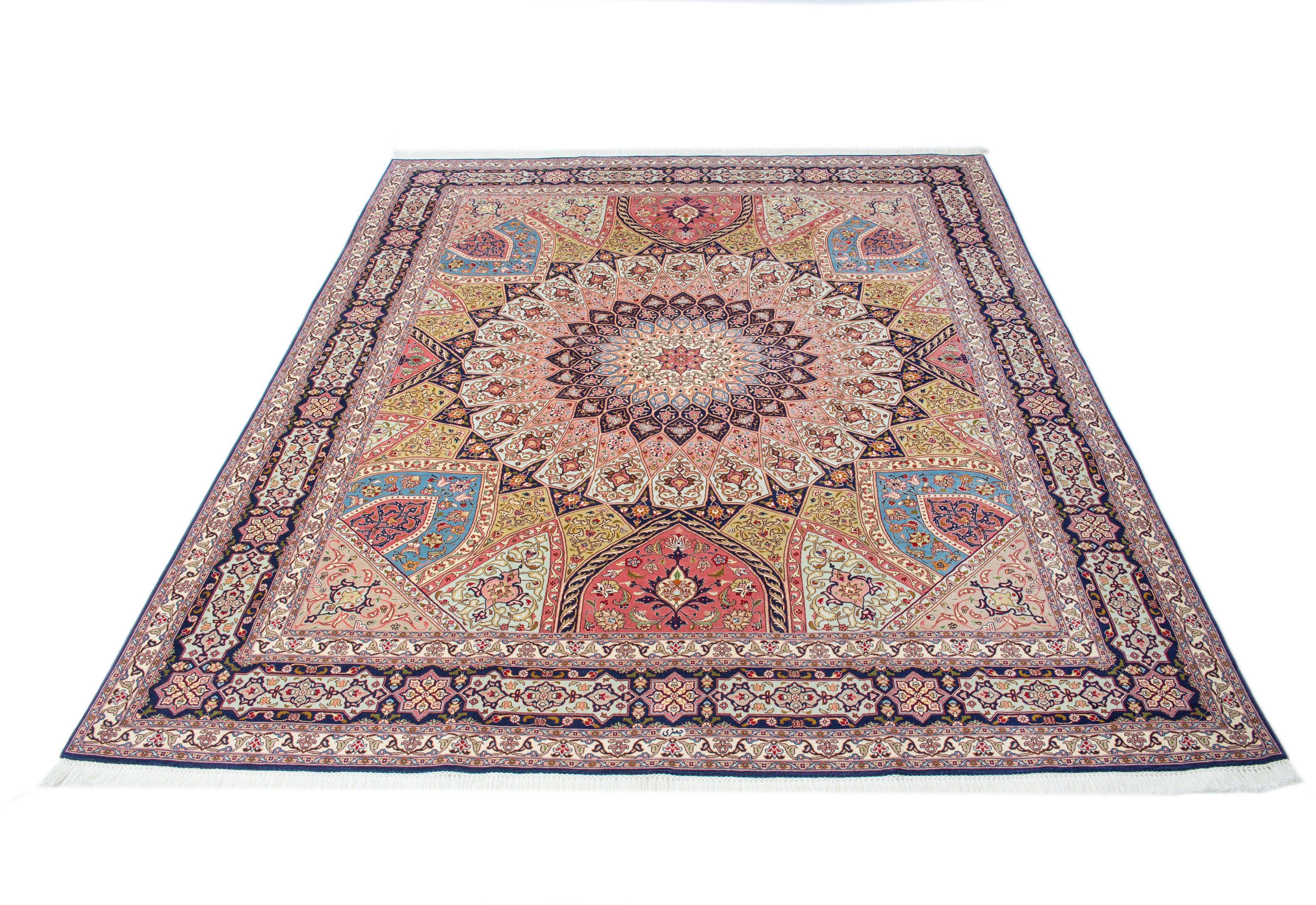 Orient-Teppich, Parwis, »Tabris Gomabad«, handgeknüpft, Wolle, 700.000 Knoten/m², Unikat