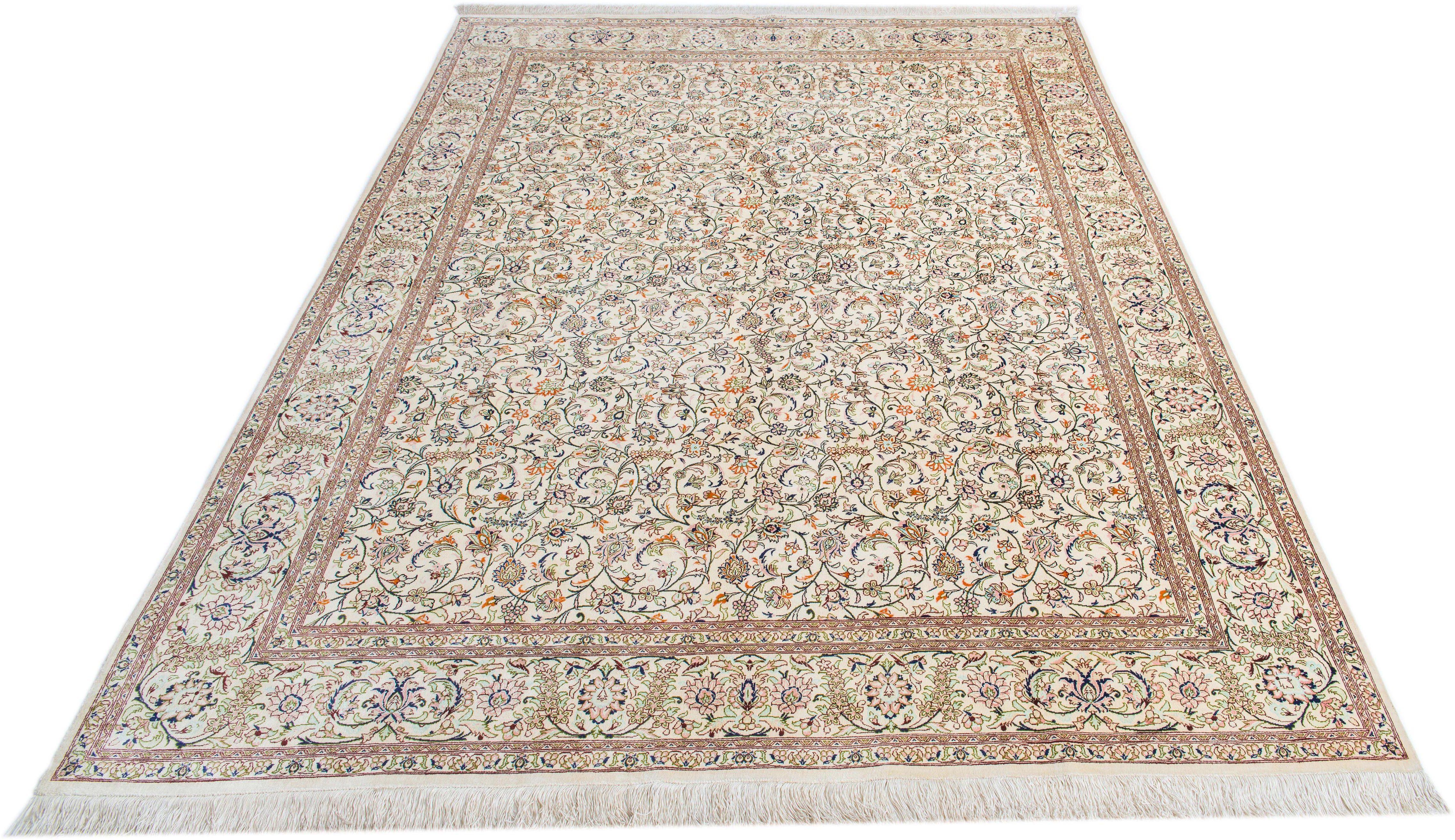 Orientteppich »Kashan Fallah«, Parwis, rechteckig, Höhe 15 mm, echt Seide, 1.000.000 Knoten/m²