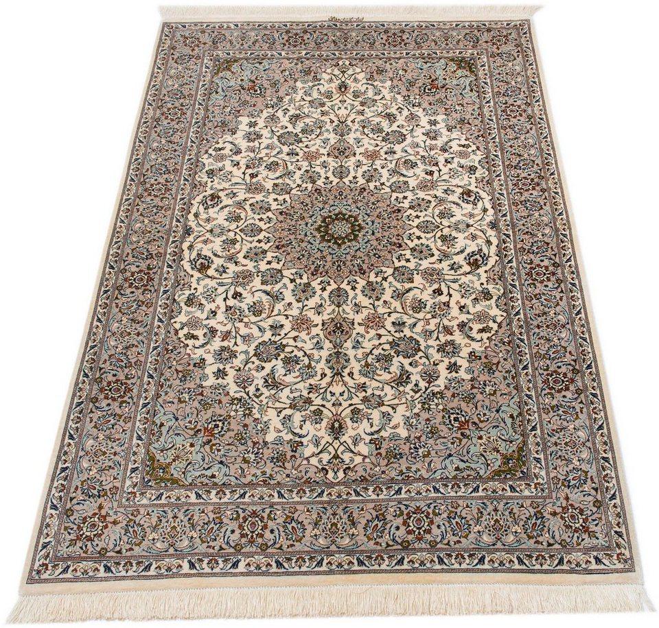 Orientteppich  Orient-Teppich, Parwis, »Kashan Valii«, handgeknüpft, echt Seide ...