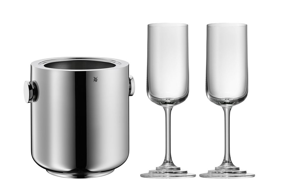 Champagner-Set, »Michalsky«, WMF in silberfarben/Glas