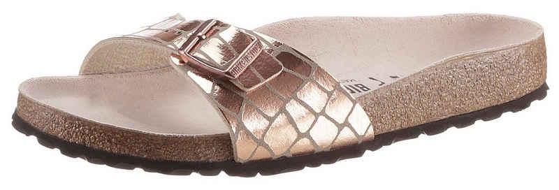 Birkenstock »Madrid Gator Gleam« Pantolette in Reptiloptik, schmale Schuhweite