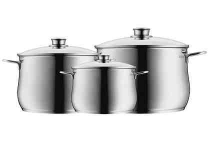 Kochgeschirr-Set, 6-teilig »Diadem Plus«, WMF, Cromargan®-Edelstahl, Induktion
