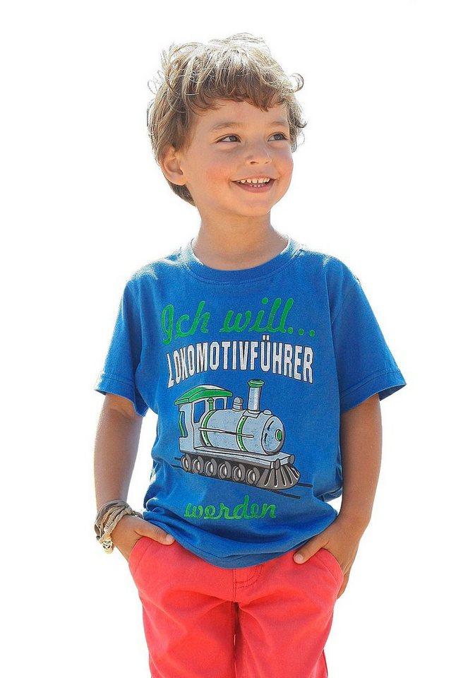 CFL T-Shirt Mit Druck vorn in royalblau