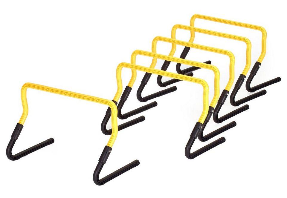 Hürden Set, Rio Fit, verstellbar, »Athletic« (6 Stck.) in gelb-schwarz