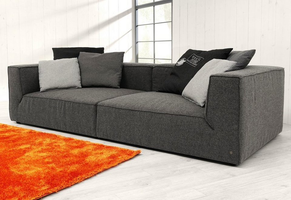 TOM TAILOR Big-Sofa »BIG CUBE«, wahlweise mit Sitztiefenverstellung in charcoal grey TKI 9