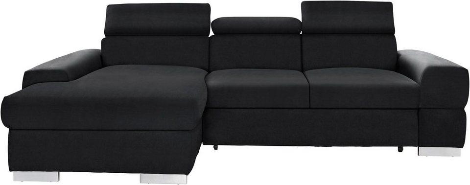 cotta ecksofa wahlweise mit bettfunktion kaufen otto. Black Bedroom Furniture Sets. Home Design Ideas