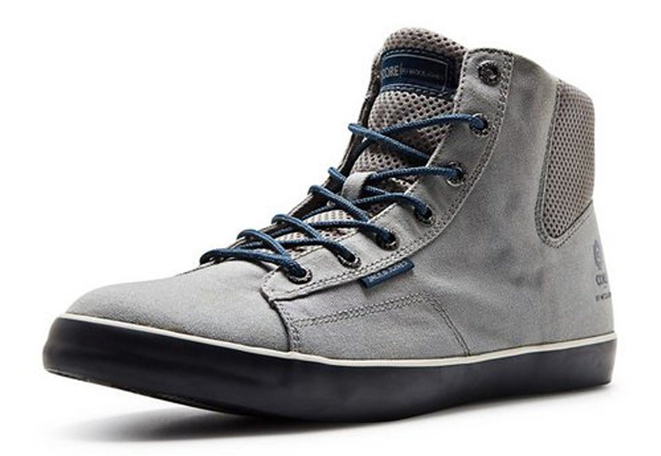 Jack & Jones Mesh, High-Top Schuhe in Neutral Gray