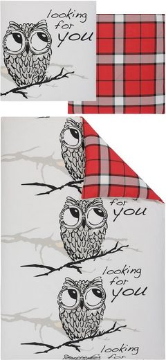 Wendebettwäsche »Owl«, my home, mit Eulen-Motiv