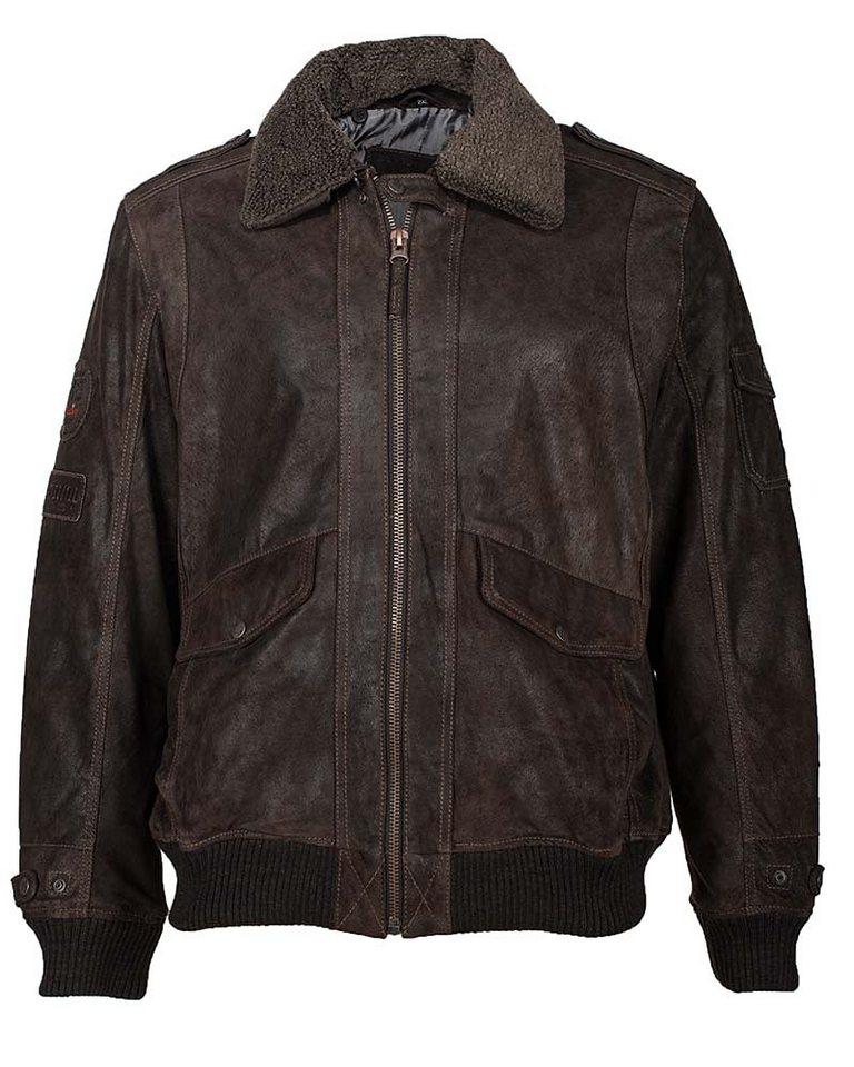 Mustang Lederblouson, Herren »Pionier« in brown