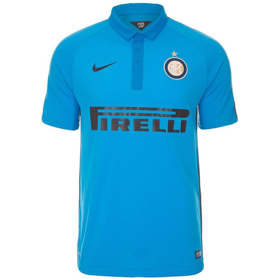 NIKE Inter Mailand Trikot 3rd Stadium 2014/2015 Herren in hellblau / schwarz