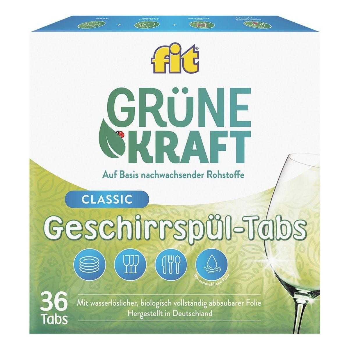 FIT GRUENEKRAFT Geschirrspültabs »Classic«