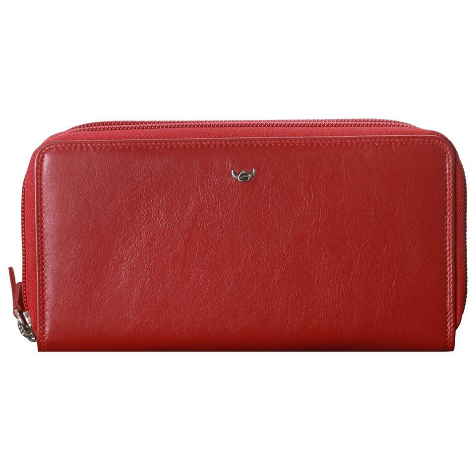 Golden Head Polo Geldbörse 19 cm Leder in rot