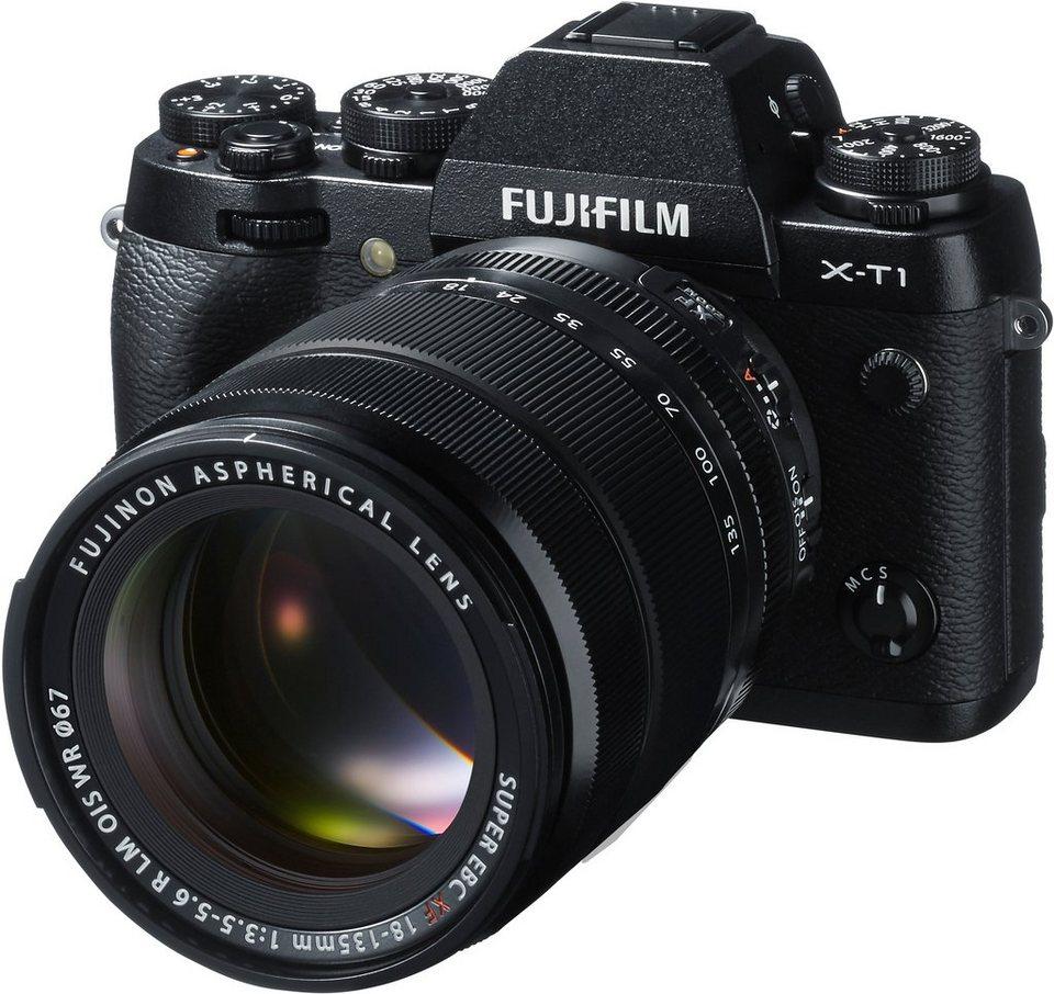 FUJIFILM FINEPIX X-T1 System Kamera, FUJINON XF18-135 OIS WR F3.5-5.6 R LM Zoom, 16,3 Megapixel in schwarz