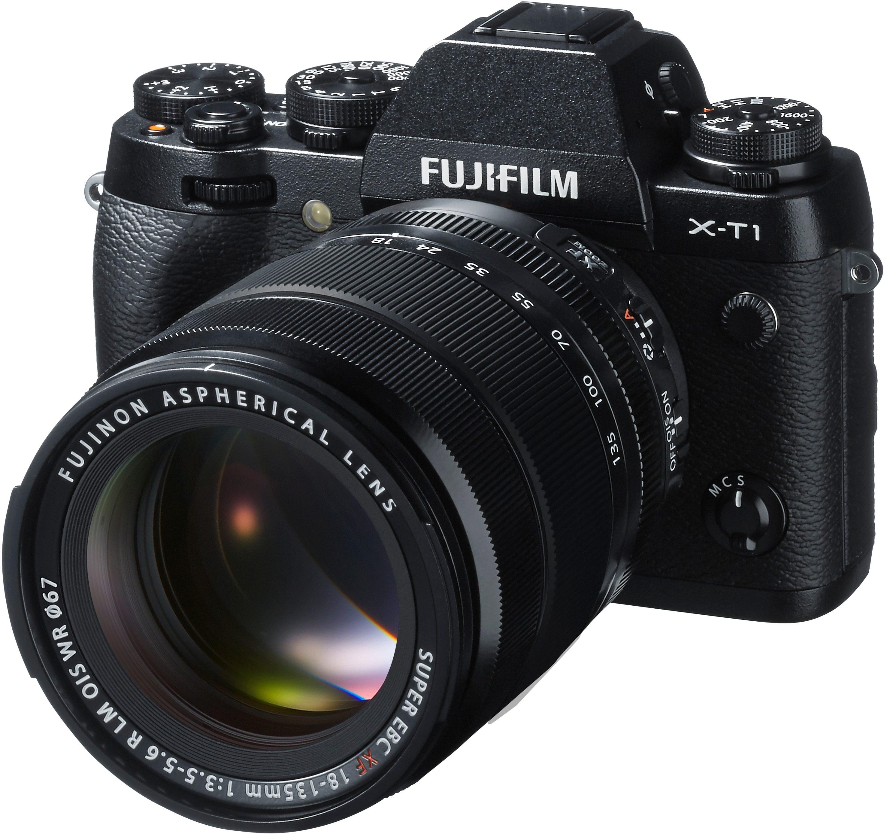FUJIFILM FINEPIX X-T1 System Kamera, FUJINON XF18-135 OIS WR F3.5-5.6 R LM Zoom, 16,3 Megapixel