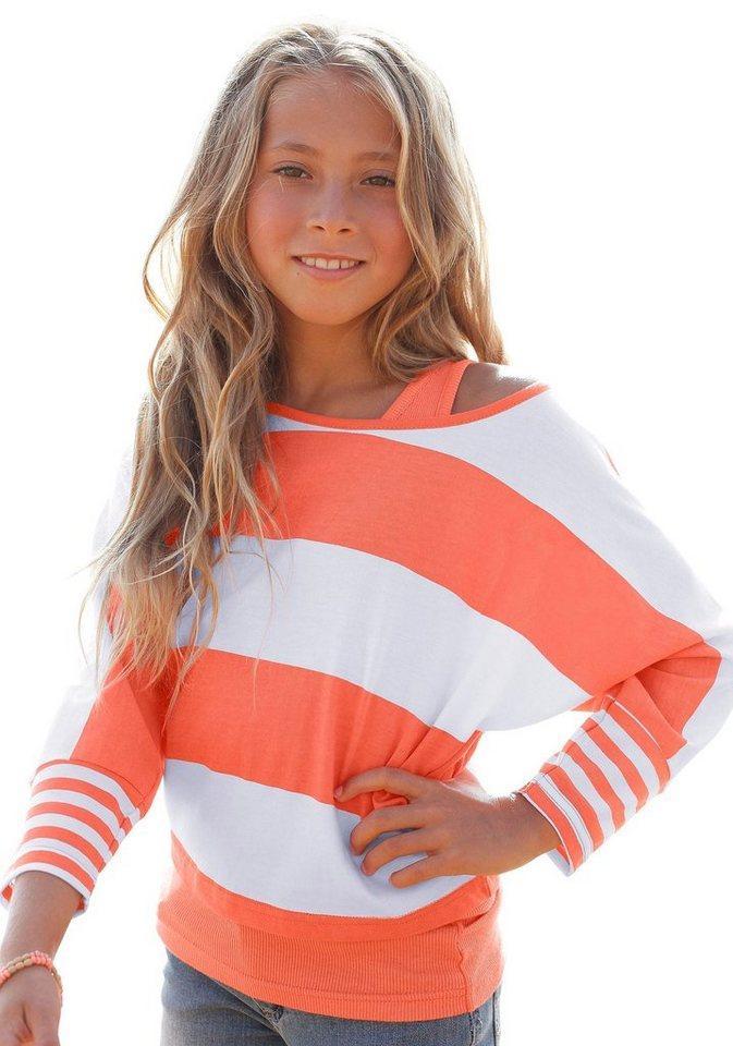 CFL Shirt & Top (Set, 2-tlg.), für Mädchen in Orange-Gestreift