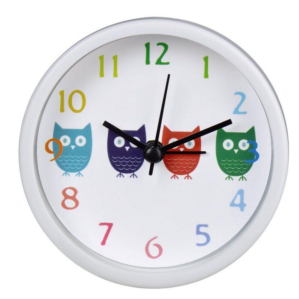 Hama Kinderwecker Wecker Uhr mit analoger Anzeige, geräuscharm »Eulen« in Weiß