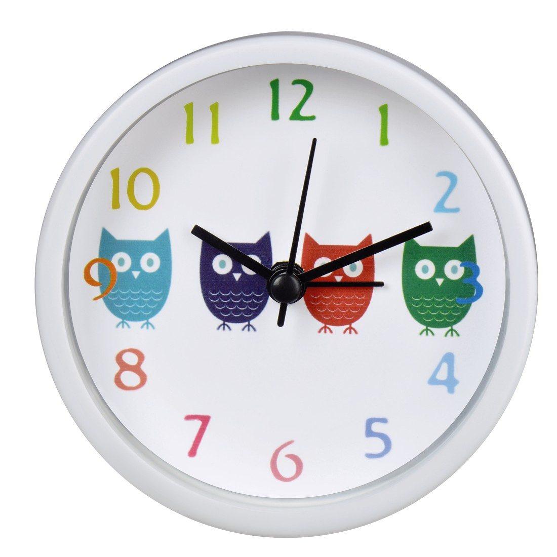 Hama Kinderwecker Wecker Uhr mit analoger Anzeige, geräuscharm »Eulen«