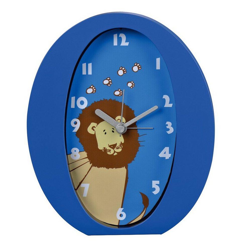 Hama Kinderwecker Wecker Uhr mit analoger Anzeige, geräuscharm »Löwe« in Blau